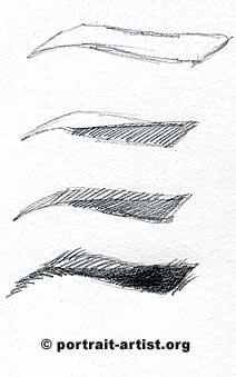 рисунок глаза по шагам