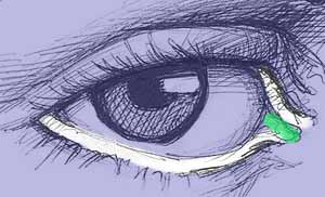 Нарисованый глаз простым карандашом