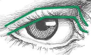 нарисованный глаз