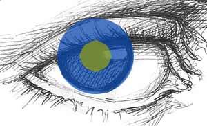глаз нарисованный простым карандашом
